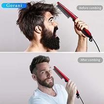 Beard Straightener Brush Comb for Men, Ergonomic Beard Brush Straightening Elect image 4
