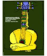 "16x20""Decoration Poster.Interior design art.Chico Buarque yellow guitar.... - $18.00"