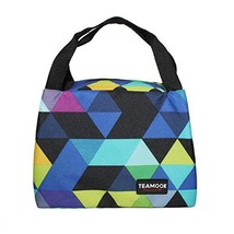 TEAMOOK Lunch Bag Insulated Lunch Box Lunch Tote Bags for Women Work with PVC Ca - $10.25