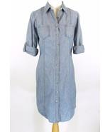 COLDWATER CREEK Size 6 Blue Denim Button Dress - $26.99