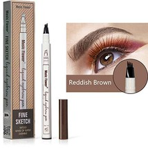 Microblading Tattoo Eyebrow Pen with Four Tips, Waterproof Ink Gel Tint ... - $14.65
