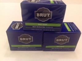 3 Packs MENS BRUT 6 Bar Soap Revolution Fragrance - $29.70