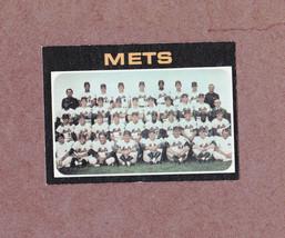 1971 Topps # 641 New York Mets Team Card Nice Card - $4.99