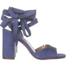 Steve Madden Kenny Ankle Strap Sandals, Blue Nubuck, 6.5 US image 4