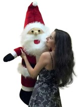 Big Plush Santa Claus 48 inch Made in USA Huge Soft Stuffed Christmas Fi... - $127.11