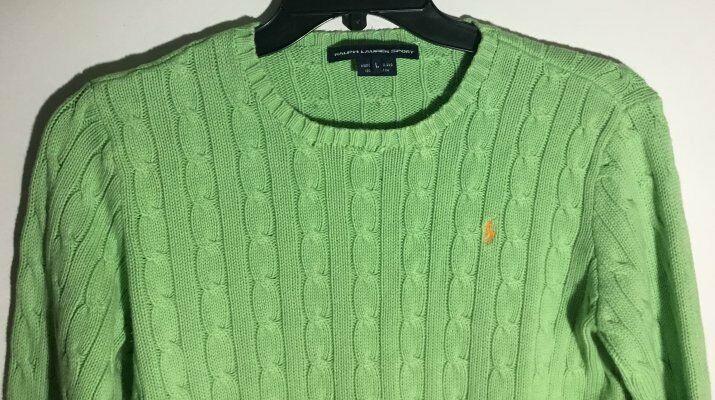 Polo Ralph Lauren Green 1//2 HALF ZIP SWEATSHIRT NWT L