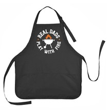 Real Dad's Play with Fire Apron, Father's Day Apron, Mens Grilling Apron - $23.71 CAD