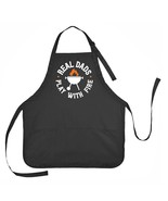 Real Dad's Play with Fire Apron, Father's Day Apron, Mens Grilling Apron - $18.00