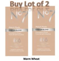 No7 Wheat Match Made Custom Blend Foundation Drops 15ml Lot of 2 New  - $14.50