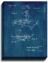 Art Of Animation Patent Print Midnight Blue on Canvas - $39.95+
