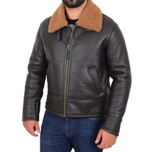 Mens Top Gun Style Sheepskin Jacket Oscar Brown Ginger - $416.00