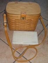longaberger basket with divider and envelope set moms memories - $36.56