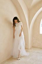 Rose Pink Wedding Tulle Skirt with Train Wedding Tulle Skirt Tulle Bridal Tutu image 10