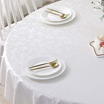 Picnic Round Oilcloth PU Tablecloth Heavy Duty Vynle Waterproof Wipeable... - $32.36