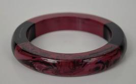 Marc by Marc Jacobs Resin Block Bangle Cuff Bracelet Black Purple New - $49.50