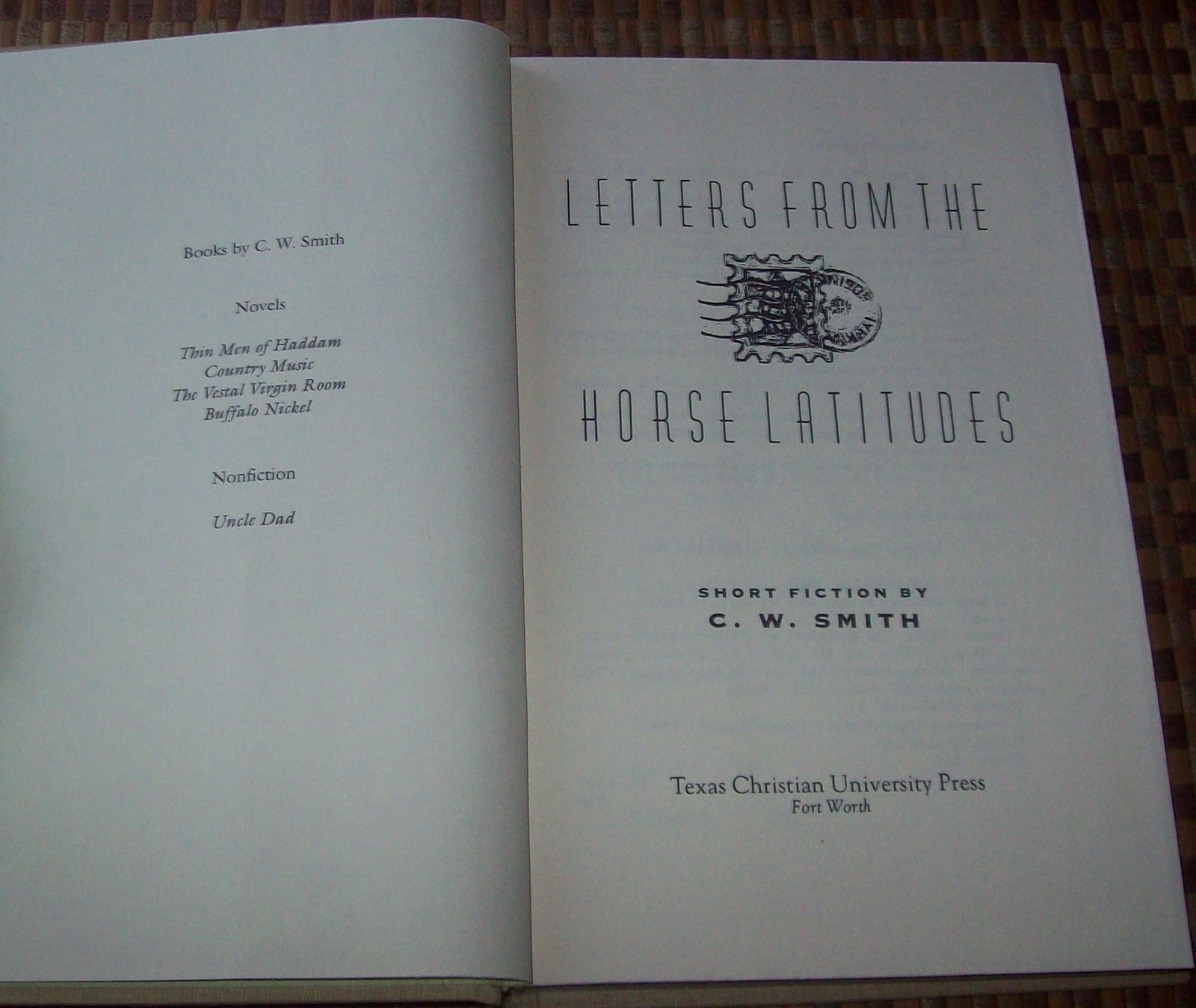 Letters from the Horse Latitudes by C.W. Smith 1994 HBDJ