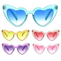 Girls Kid Size Pimp Daddy Color Lens Heart Shape Cat Eye Sunglasses - $9.95