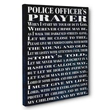 Blue Grunge Police Officer Gift Canvas Wall Art Decor - $26.24