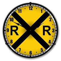 Colorful Railroad Crossing Lighted Wall Clock - $129.95