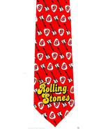 Rolling Stones Guitar Pick Men's Necktie Rock Band Tongue Lip Music Neck... - $29.35