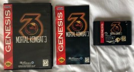 ☆ Mortal Kombat 3 (Sega Genesis 1995) AUTHENTIC Complete in Case Game Wo... - $18.50