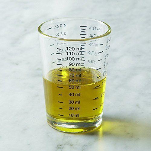 Fox Run 4 oz Small Glass Measuring Cup Increment Liquid Baking Food Cooking Mini
