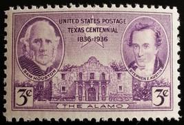 1936 3c Texas Independence Centennial, The Alamo Scott 776 Mint F/VF NH - $0.99