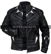 Black Panther Avengers Infinity War T'Challa (Chadwick Boseman) Black Leather Co image 6