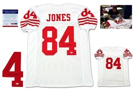 Brent Jones Autographed SIGNED Jersey - PSA/DNA Authentic - White - $98.99