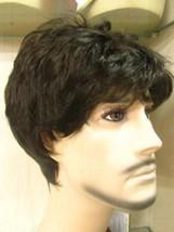 Handsome Black Short Straight Healthy Mens Boys Hair Wig Cosplay Hallowe... - $32.00