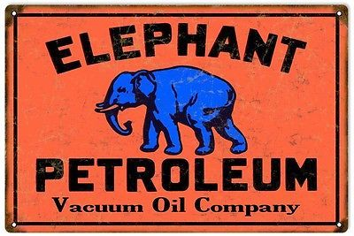 Primary image for Elephant Petroleum Vacuum Oil Co., Motor Oil Sign