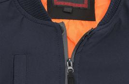 Men's Multi Pocket Water Resistant Industrial Uniform Quilted Bomber Work Jacket image 8