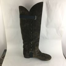 Vicini Tapeet Studded Knee Boots Brown Suede Italy 37 image 4