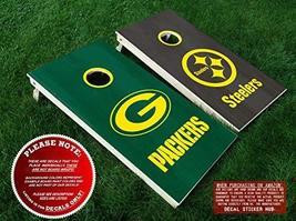 Green Bay Packers vs Pittsburgh Steelers Cornhole Decals | DIY Vinyl Sti... - $33.99