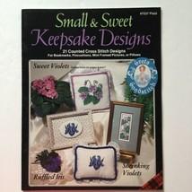 Small & Sweet Keepsake Designs 21 Counted Cross Stitch Designs Plaid 753... - $9.89