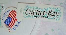 Cactus Bay Apparel Floral Butterfly Shirt XXL Size Pink Puple White Color image 2