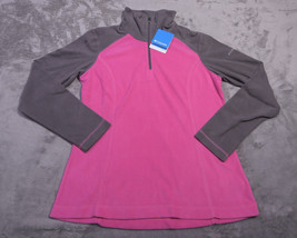 Columbia Womens Wintry Run Fleece 1/4 Zip Coat Jacket Medium M Nwt - $42.55