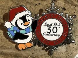 Hallmark 2017 KOC Local Club 30th Anniversary Christmas Pin Penguin Snowflake - $15.95