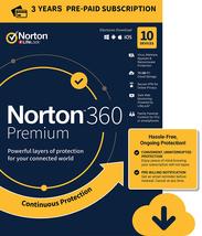 Norton 360 Premium 2021 3 Years 10 Devices 75 GB Cloud Storage Global Ke... - $79.99