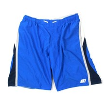 NIKE Spell Out Swim Trunks Men's Blue Retro Swimsuit Adult Extra Large 1... - $20.42