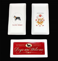 Magenta Dogs Welcome * Chihuahua * Boston Terrier Heavy Rectangle Tray U... - $23.99
