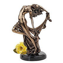 """14"""" Fluidity and Grace Nude Female Form Faux Bronze Finish Gallery Statue - $138.55"""