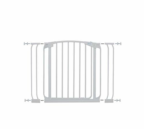 Dreambaby Chelsea Auto Close Security Gate in White with Extensions