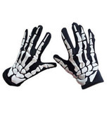 2018 Cycling Gloves Halloween Skull Claw Bone Skeleton Goth Racing Full ... - €9,58 EUR