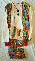 Hippie Dippie Men's Complete Dress Floral Costume Multicolor Size Standa... - $39.99