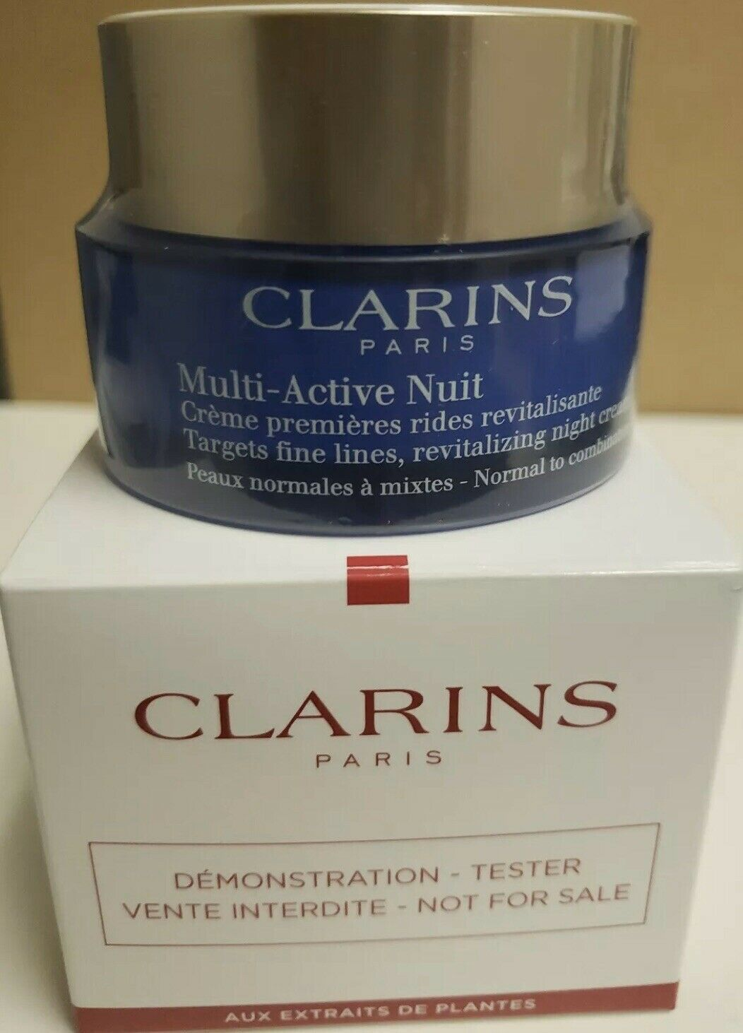 "Primary image for CLARINS MULTI ACTIVE NUIT NIGHT CREAM ""TESTER BOX"" 1.6 OZ SEALED"