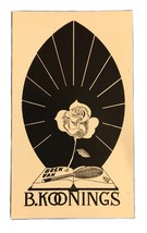 Ex Libris Exlibris Bookplate B. Kooning Boek Van Th. Broekstra 1946 - $27.31