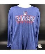 NHL New York Rangers Long Sleeve Shirt Size Mens 2XL 50/52 - NEW W/ Tags -j - $19.99