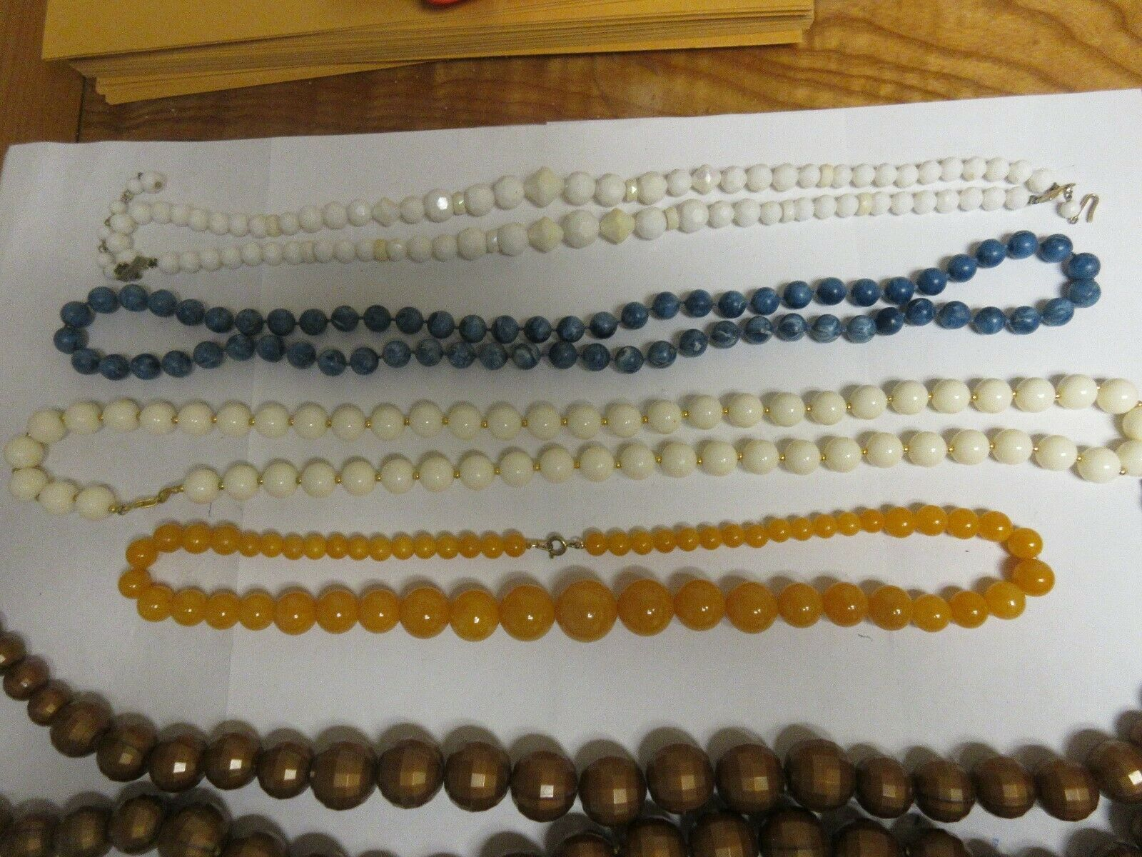 Costume Jewelry , Necklace , Vintage , Lot of 6