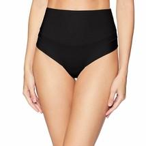 Yummie BLACK Tummie Tamers Mid Waist Thong Underwear Panty, US Small - $15.06